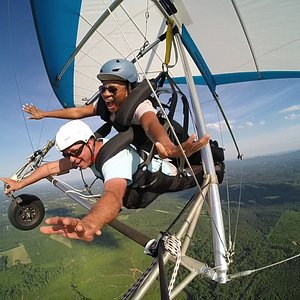 Hang Gliding Tandem Flights are awesome fun with breathtaking views.
