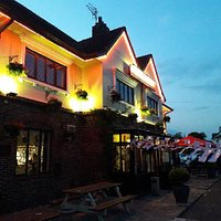 The Clinton Arms at night