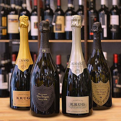 "Superb Champagne Krug ""Clos du Mesnil"" and Dom Pérignon ""Plenitude 2"""
