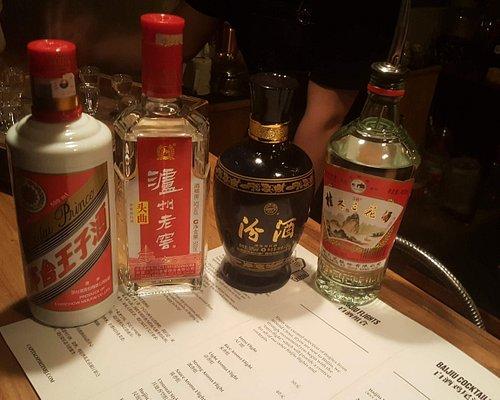 Baijiu flights - sample this unique liquor of China