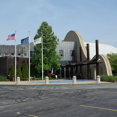 Architectural elements represent facets of Indiana