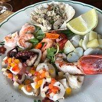 antipasto-mixed seafood platter