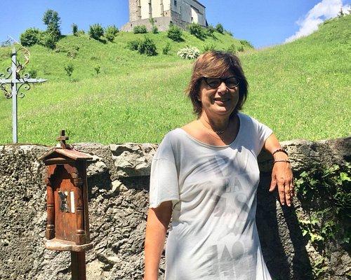 La Pieve di San Floriano sullo sfondo