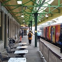 Outside Sitting Area By The Train Platform After Station Renovation