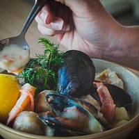 Our famous seafood chowder
