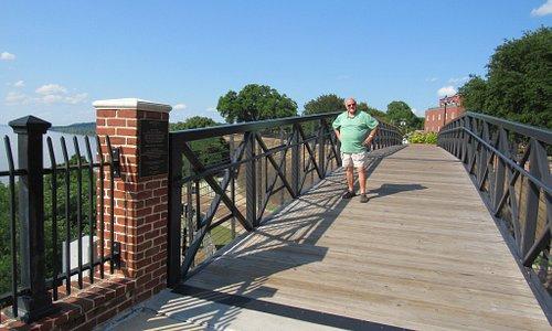 Tom enjoying The Bridge of Sighs...nice stroll, beautiful scenery.
