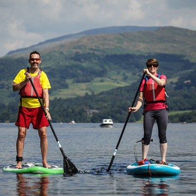 Stand up paddle boarding on Lake Windermere