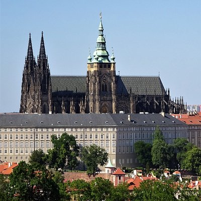 A view of St. Vitus from Petrin Park