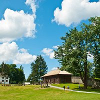 A sunny day at Fort Langley National Historic Site.