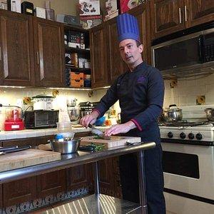 David Jahnke teaching knife skills