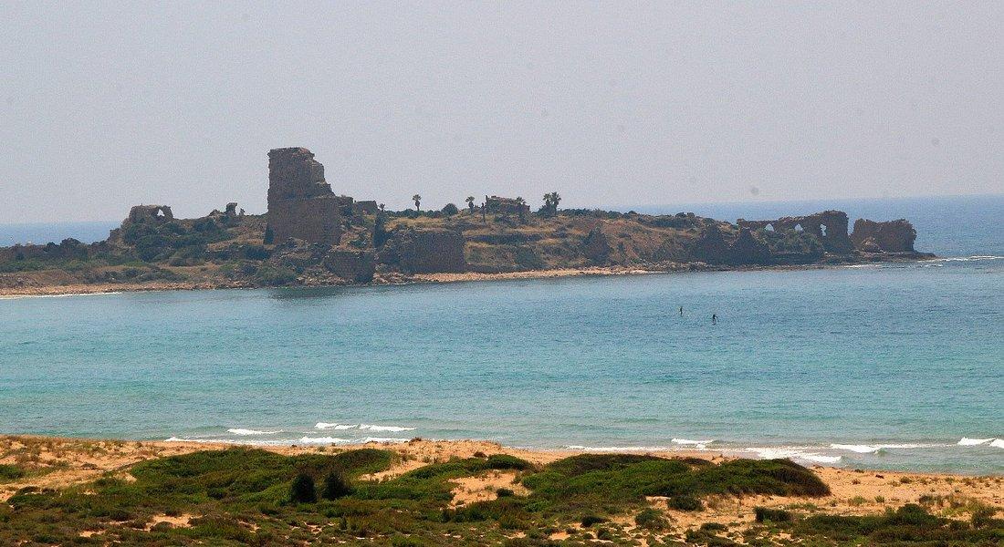 Crusaders' Castle of Atlit drom the Refugee Camp