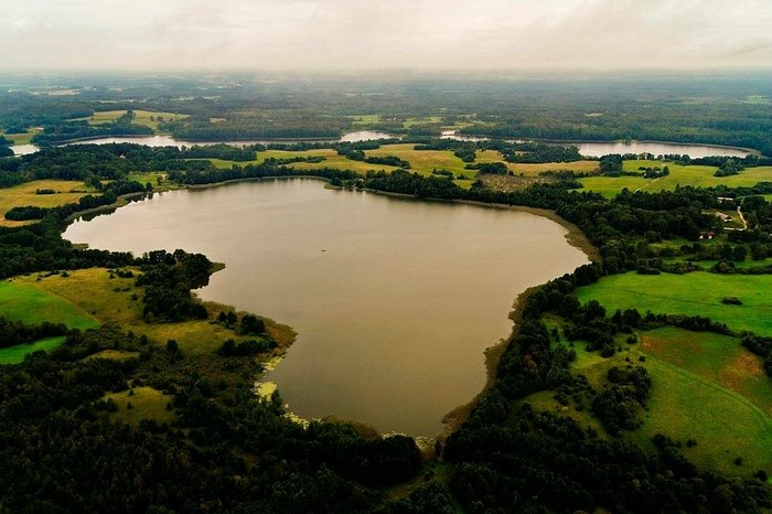 Ilgis lake next to the Manor in the shape of Lithuania