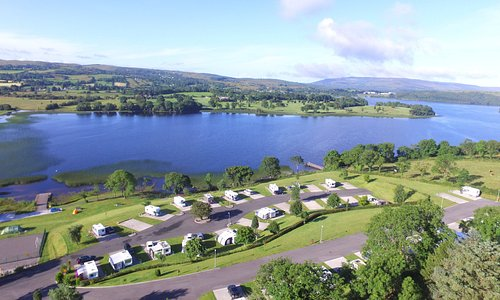 Park located overlooking Lough MacNean