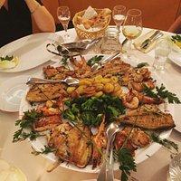 Unser Fischteller in der Pizzeria Toscana! Sehr empfehlenswert