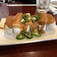 Spring rolls with peanut sauce (all tofu)