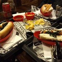 Hot dog e Nachos