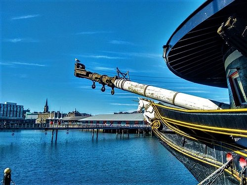 HMS Unicorn in Dundee's historic Victoria Dock