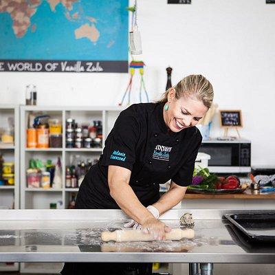 The Happy Chef.  Vanilla Zulu owner Chef Alafaci (nee Townsend)