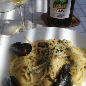 Spaghettone di grano saraceno con V.I.P. dell'Azienda Arrighi
