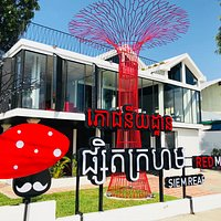 Front View of Red Mushroom Siem Reap Restaurant