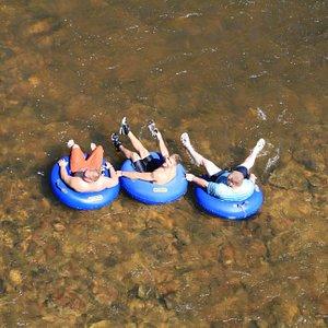 Enjoying a float Down the River