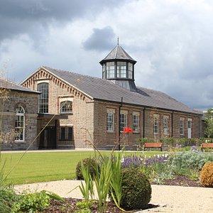 Garden View of Richmond Barracks Gymnasium