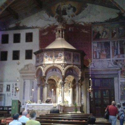 Il ciborio del XVI secolo nella prima chiesa detta Santuario