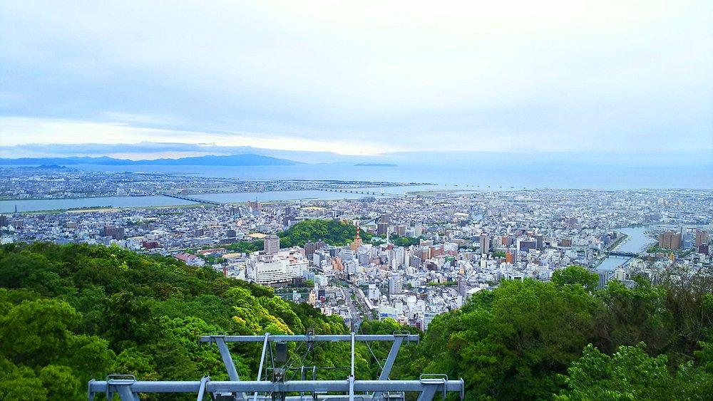 徳島市内が一望