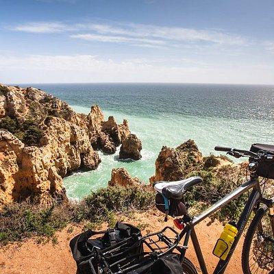 Algarve coastline in southern Portugal