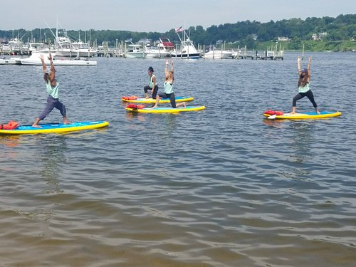 Get our Flow on in our SUP Yoga Class