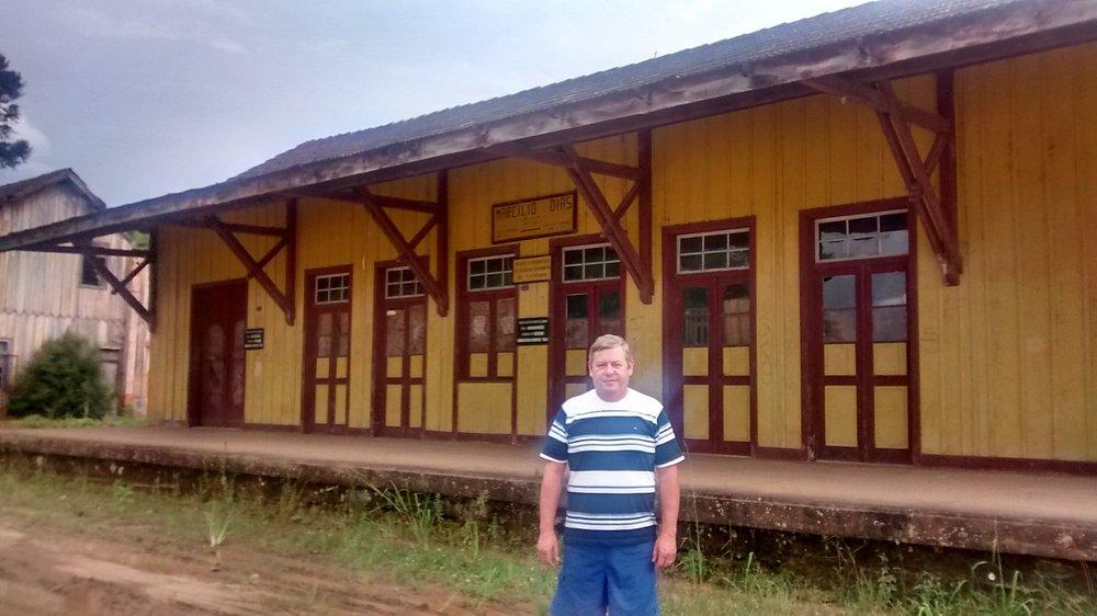 Estação da linha de trem que passava por Marcilio DIas.Daí derivava um ramal para Canoinhas SC,