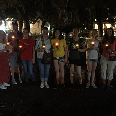 Fun with the K2 EMF meters in Haunted Savannah on The Ghostwalker Tour! Always a small group, ne