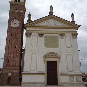 Riese Pio X parish church and bell tower