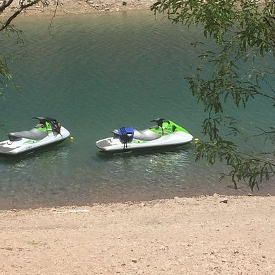 using the anchor bags off shore at lake pleasant