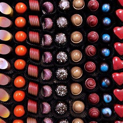 Hand-painted chocolate truffles
