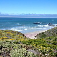 Andrew Molera State Park beach from Spring Trail