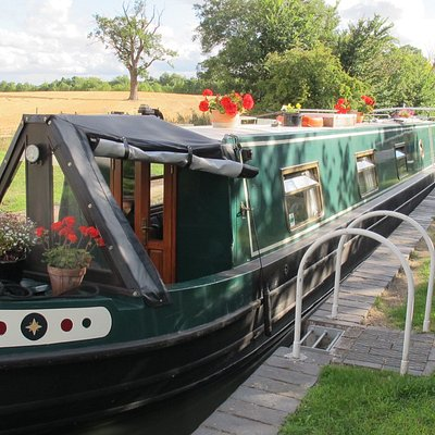 The Silver Jewellery Boat - it's  floating workshop!