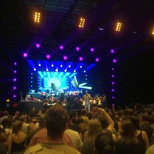 Inside Forum Karlín during the concert