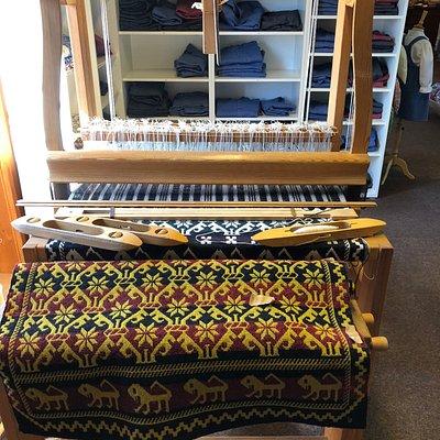 Loom set up in shop