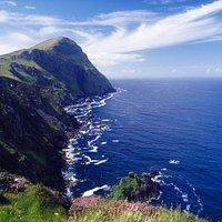 Stunning cliffs on Clare Island