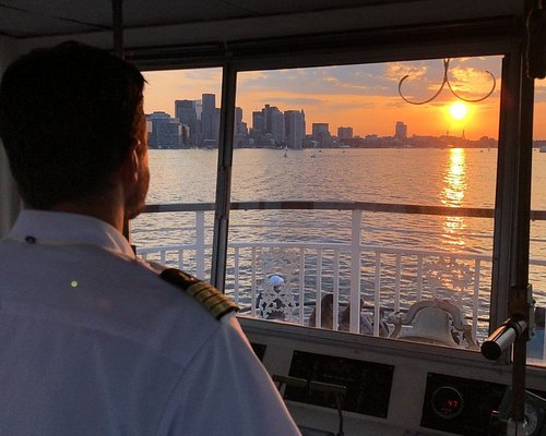 Sunset view from the wheelhouse
