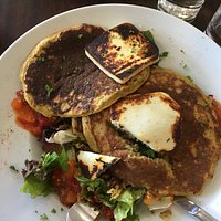 Pancakes with tofu? Weren't the best.