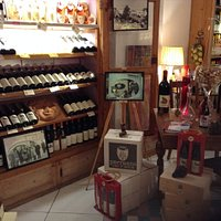 Interior of the wine shop