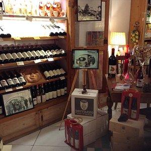 Interior of the wine shop