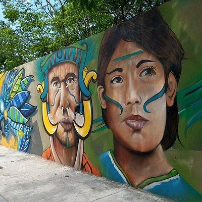 Arte puro, otro de los murales que pueden observarse