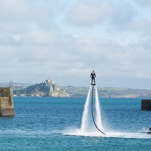 Flying high in Penzance Harbour