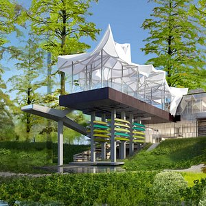 ONEOK Boathouse with boats to rent