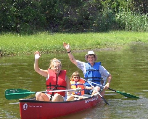 Family on a Canoe