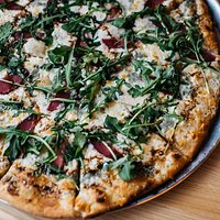 Red Wine Poached Pear Pizza
