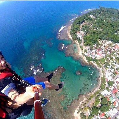 Puerto Viejo desde el aire, en una sola foto todo el pueblo